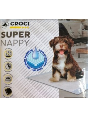 Croci Super nappy vienkartinės palutės šunims 40x60cm (10vnt)