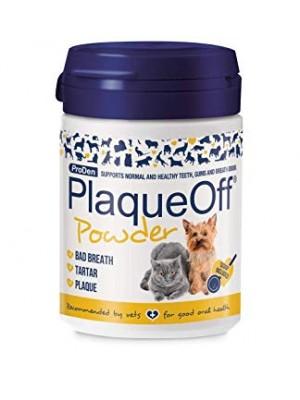 Plaque Off milteliai šunų ir kačių burnos higienai 40g