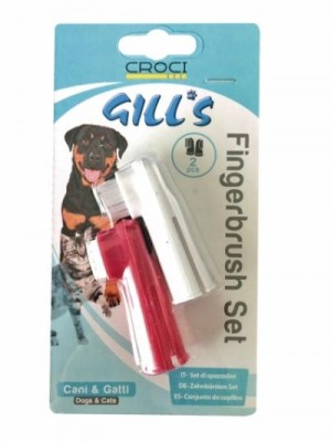 Dantų šepetukai šunims (komplektas)