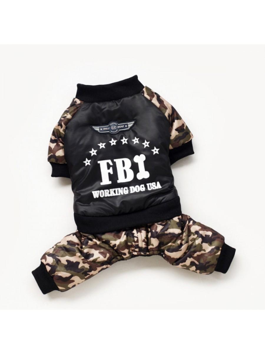 """ŽIEMINIS NEPERŠLAMPANTIS KOMBINEZONAS ŠUNIUI """"FBI"""""""