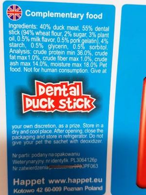 Skanėstas šunims kramtalinės lazdelės, apvyniotos antiena, 100 g