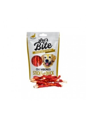 Brit Care Lets Bite Chewbones Sticks with Duck skanėstas šunims 80g