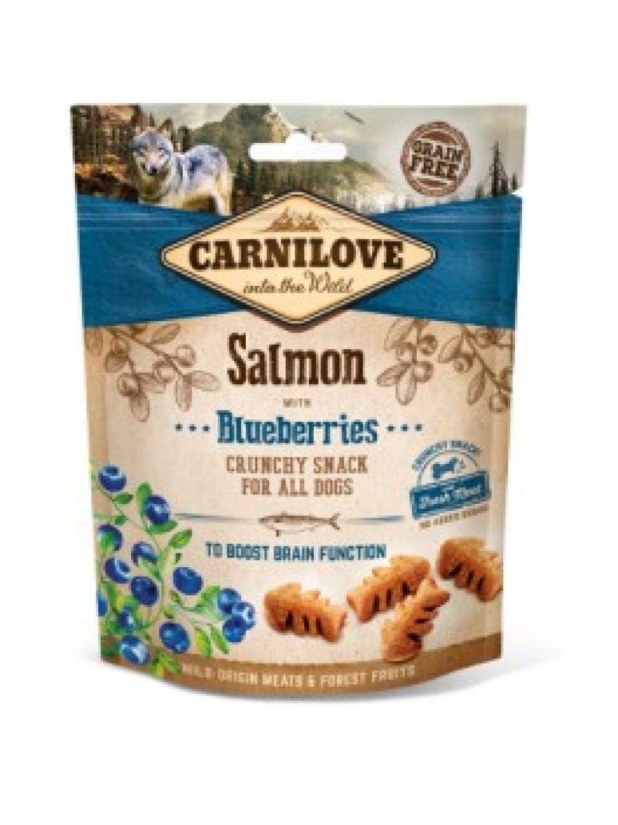 Carni love begrūdžiai skanėstai šunims Salmon and Blueberries 200g