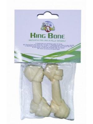 Kaulas šuniu baltas su mazgu 7.5 cm 2 vnt