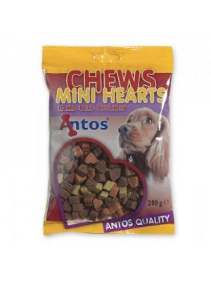Antos Mini Hearts (su ėriena, jautiena, vištiena 200 gr)