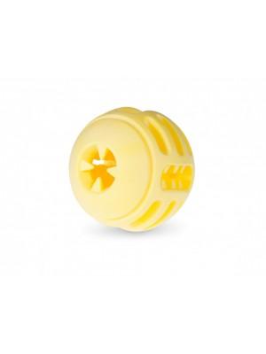 VDG TPR Vanilla Yellow Ball skanėstų kamuolys didesniam šuniui 8cm