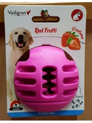 VDG TPR Red Frutti Ball skanėstų kamuolys didesniam šuniui 8cm