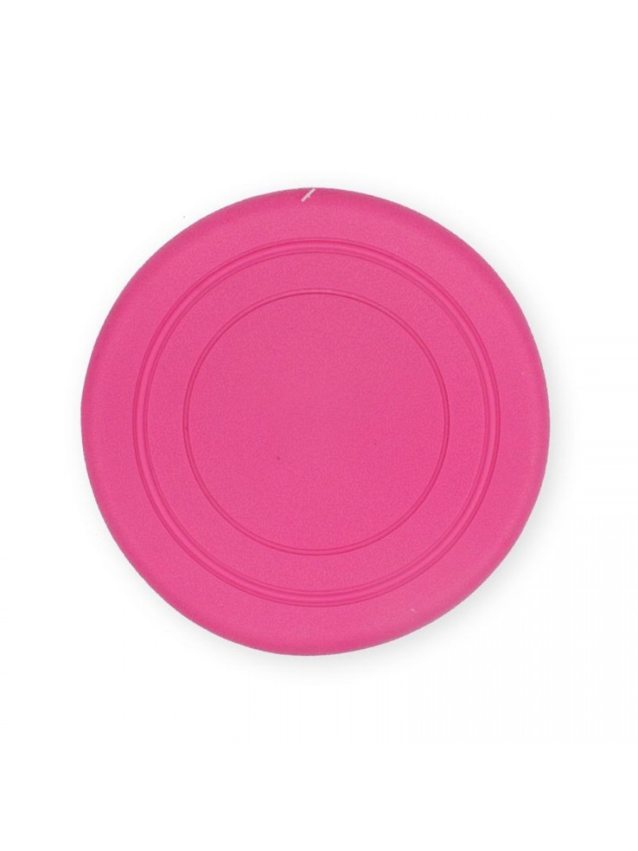 Žaislas šunims guminė skraidanti lėkštė (rožinė), 18 cm